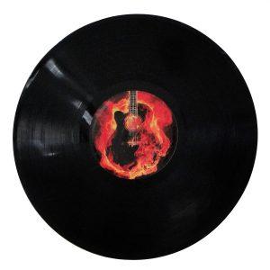 """Disco Adesivado para Decoração - Guitar """"Lp 12"""""""