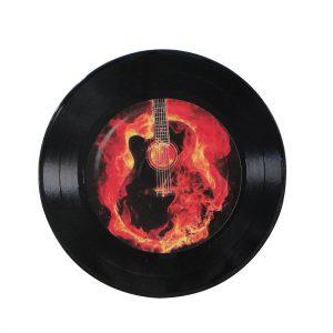 """Disco Adesivado para Decoração - Guitar """"Compacto 7"""""""